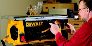 dewalt table saw rip fence extension portable table saw review job site benchtop woodworking