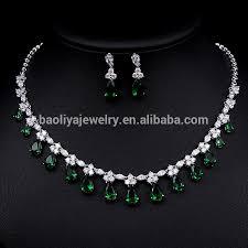 cubic zirconia necklace set images Fashion copper zircon jewelry set indian cubic zirconia jewelry jpg