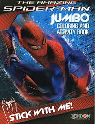 amazon spider man coloring u0026 activity book cover art