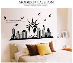 home decor new york luminous new york city statue of liberty wall decal sticker home