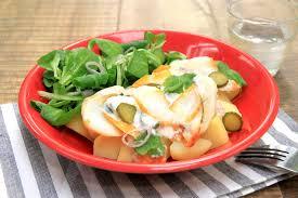 cuisiner haddock salade de haddock et pommes de terre la recette de salade de
