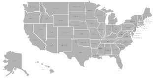 vector usa map usa united states map separable borders vector stock vector