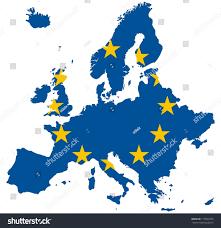 map to europe europe map european union flag stock illustration 115002976
