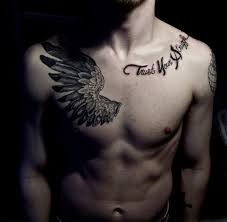 wonderful wing tattoo designs for men chest female chest tattoo
