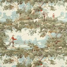Vintage Drapery Fabric Green Toile Drapery Fabric U0026 Supplies Onlinefabricstore Net