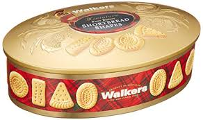 walkers shortbread oval gold shortbread tin scottish cookies