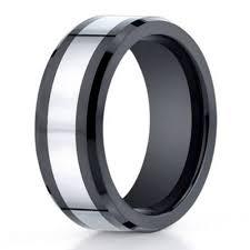 mens black rings designer cobalt chrome black ceramic men s wedding ring