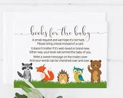 bring a book baby shower book instead of card etsy