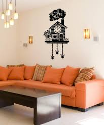 wall decals for home wall vinyl stickers vinyl art decals vinyl wall decal sticker home sweet home cuckoo clock os dc190