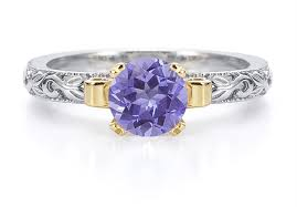 tanzanite engagement ring 1 carat deco tanzanite engagement ring