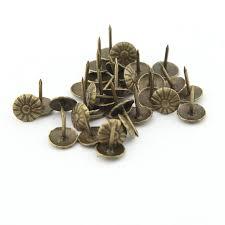 Tack Upholstery 100pcs 10mmx14mm Antique Bronze Chrysanthemum Nails Pushpin