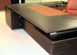Leather Office Desk Executive Desk Wooden Leather Laminate Rho Plus By Luca