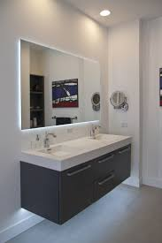 bathroom design clssic floating sink cabinet with white top
