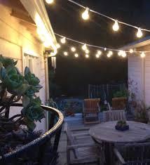 Hanging Patio String Lights Backyard String Lights Pinterest Home Outdoor Decoration