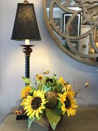 sunflower arrangements tabletop vignette l and sunflower arrangements p s flowers