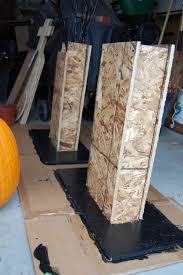 diy halloween prop cemetery columns u0026 sign nikitaland
