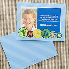 birthday thank you card personalized photo birthday thank you note cards