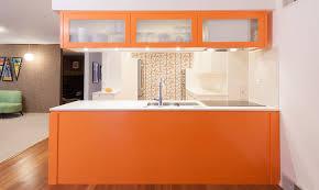 white kitchen cabinets orange walls cheerful and trendy orange kitchen design ideas