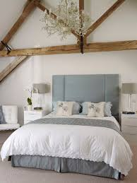 drum lamp shades in bedroom farmhouse with barn conversion next to