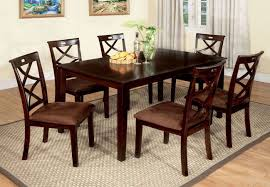 baxter 7 piece dining room set furniture of america furniture cart