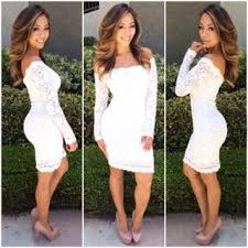white bodycon dress shoulder lace bodycon dress white