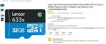 best micro sd card black friday deals deal select lexar microsd cards on sale for up to 58 off from amazon