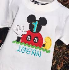 mickey mouse birthday shirt boys mickey mouse clubhouse birthday onesie or shirt