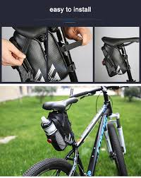 cycling waterproofs roswheel bicycle tail light saddle bag with water bottle pocket