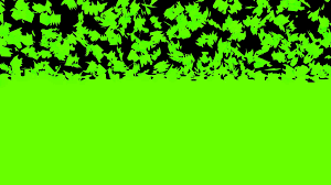 animated crumbling dissolving breaking apart wall of green