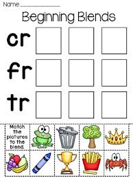 blends fun worksheets initial consonant blends worksheets