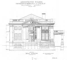 Building Plans Images Unl Historic Buildings Administration Building Old Building Plans
