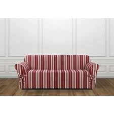 Striped Slipcovers For Sofas Classic Slipcovers Classic Stripe Sofa Slipcover Free Shipping
