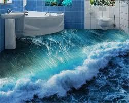 3d ocean floor designs beibehang fashionable aesthetic wallpaper 3d ocean floor seaside