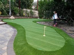 Putting Green In Backyard by Turf Grass Herald California Office Putting Green Backyard