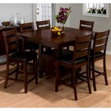 Square Dining Room Tables For 8 Furniture Scenic Bar Height Square Dining Table For Room Chairs