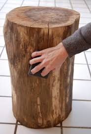 How To Build Wood End Tables by Stumped How To Make A Tree Stump Table Tree Stump Stump Table