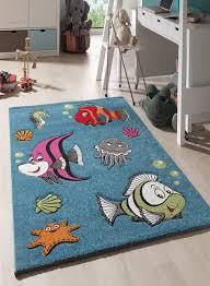 tapis pour chambre tapis pour la chambre poissons bleu de la collection unamourdetapis