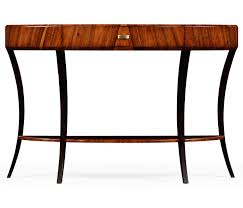 Large Console Table Art Deco High Lustre Large Demilune Console Table With Drawer