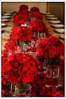 Red Roses for Valentine Day Wedding Table Decorations and Centerpieces