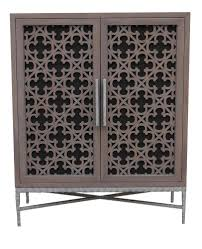 Metal Media Cabinet Custom Project Media Cabinet Featurning Laser Cut Panel Doors