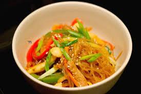 cuisine cor馥nne recette japchae vermicelles coréennes le chameau bleu
