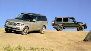 ultimate jeep head to head 2013 range rover vs 2013 mercedes benz g63 amg head 2 head