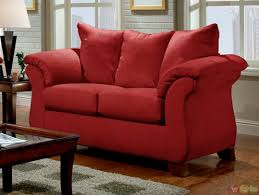 Red Loveseat Cabot Red Microfiber Sofa Love Seat Casual Living Room Gallery