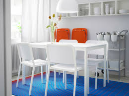 Ikea Dining Room Chair A Small Dining Room With Melltorp Table And Chairs In White