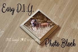 easy wood photo plaque for gallery wall live laugh to craft