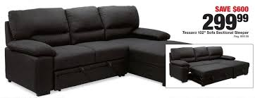 sofa with chaise and sleeper fred meyer black friday tessaro 102 sofa sectional sleeper for