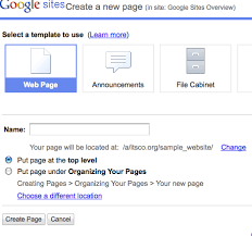 Google Sites File Cabinet Organizing Your Pages Google Sites Help