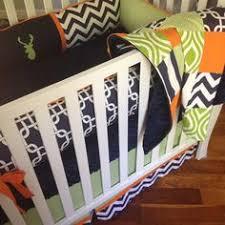 Orange Crib Bedding Sets Elephant Nursery Bedding Set Navy Blue Orange Gray Crib Bedding