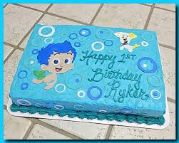 bubble guppies sheet cake with gil and bubble puppy the great