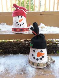 terra cotta pot snowman 67 cool ideas for kids christmas craft